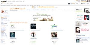 Eingangsbereich von Amazon MP3