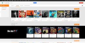 """Willkommensbildschirm der Kategorie """"Musik"""" von Google Play"""